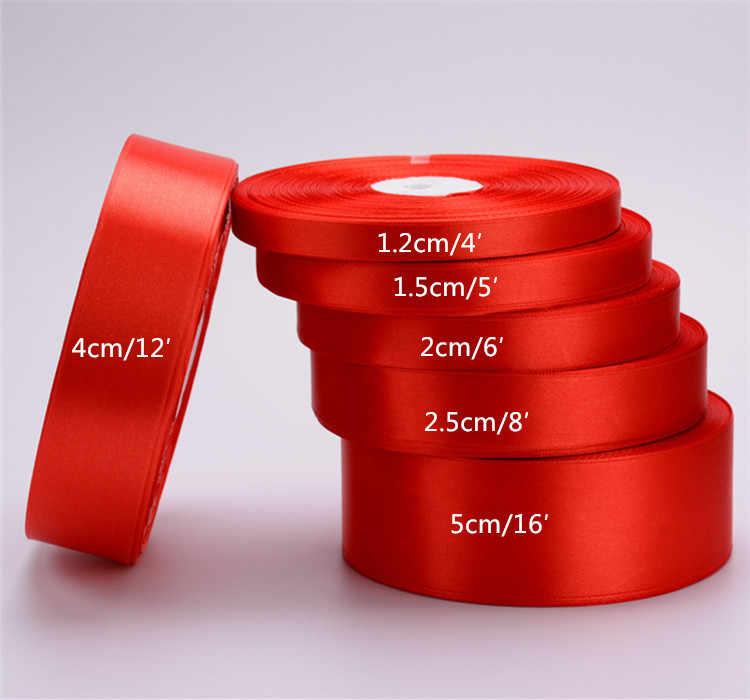 Cinta roja de tela aida rollo de 2,5 m 33 mm, amarillo