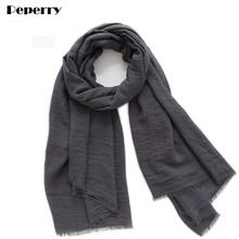 Cotton Scarf Women Femme Shawl Hijab Wrap Foulard Solid Color Soft Warm Spring Winter Real Pictures 180*85cm