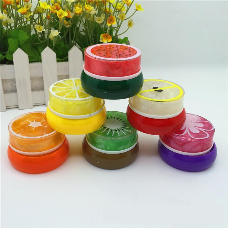 Creative 6-color Plasticine Pearlescent crystal mud jelly mud bubble mud Fruit Boxed Crystal Colors Slime Toys Clear Light Clay