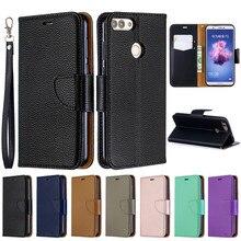 Huawei p caso inteligente em para fundas huawei p smart psmart FIG LX1 capa capa capa de couro carteira flip caso de telefone coque