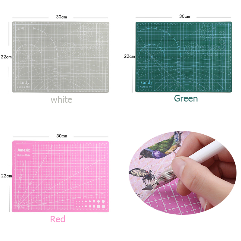 A4 PVC Cutting Mat Cutting Mat Quilting Cutting Mat A4 Patchwork Tool Manual DIY Tool Cutting Board Double-sided Self-healing