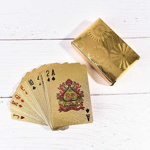 مقاوم للماء أوراق اللعب بطاقات بلاستيكية جمع الأسود الماس بطاقات بوكر هدية الإبداعية القياسية أوراق اللعب بوكر