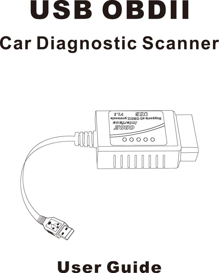 1) FT232RL Chip ELM327 USB V1.5 ODB2 Car Diagnostic Interface Scanner ELM 327 USB OBDII ELM-327 OBD 2 Auto Diagnostic-Tool1