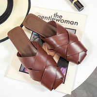 HEE GRAND 2019 New Fashion Summer Comfortable PU Leather Women Slippers Solid Causal Outside Non-Slip Women Slippers XWT1550