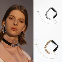 Korean Small Public Designer Fashion Beaded Silk Tassel Choker Necklace 2018 Fashion Jewellery For Women Colar Gargantilla