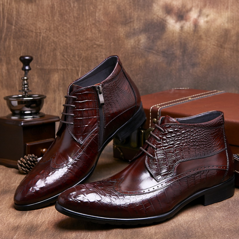 High Quality Brown Dress Boots Men Promotion-Shop for High Quality ...