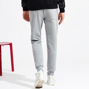 Image 4 - פיוניר מחנה צמר מכנסי טרנינג גברים מקרית חורף סתיו שחור עבה מסלול הדוקים מכנסיים זכר 100% כותנה AWK702321