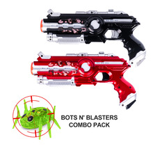 цена на DA XIN 2pcs/set cs game toy guns black light electric battle toy gun infrared sensor plastic laser tag gun for indoor&outdoor