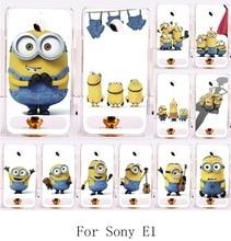 Big Eyes Minions Hard Plastic Phone Cases For Sony Xperia E1 D2004 D2005 E1 Dual D2104 D2114 D2105 Phone Bags Back Cover Hood