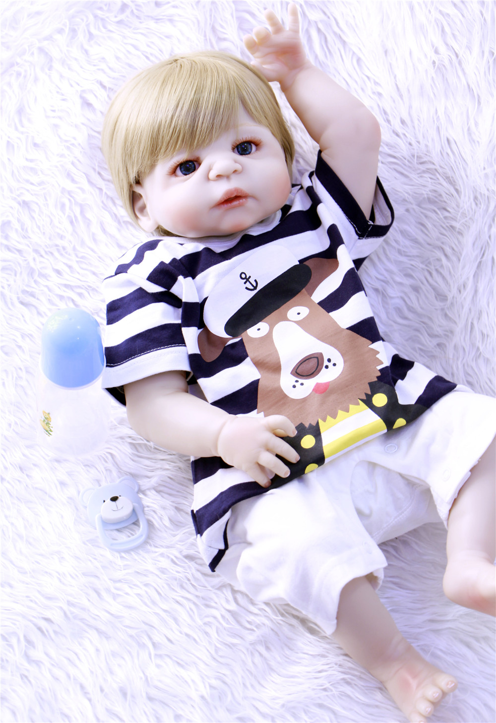 57cm Realistic Full Silicone doll reborn baby For Sale newborn boy girl baby alive dolls for Kids  Xmas Gifts bebe dolls menino57cm Realistic Full Silicone doll reborn baby For Sale newborn boy girl baby alive dolls for Kids  Xmas Gifts bebe dolls menino