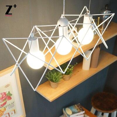 Led lamp lights modern Pendant  Light  three  heads bulbs Edison Lamp Loft Coffee Bar Restaurant Kitchen Lights