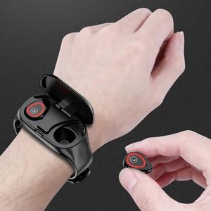 Image 5 - Femperna หูฟังบลูทูธบลูทูธ 5.0 หูฟังไร้สาย TWS พร้อมฟิตเนสสร้อยข้อมือ Heart Rate Monitor สมาร์ทนาฬิกา