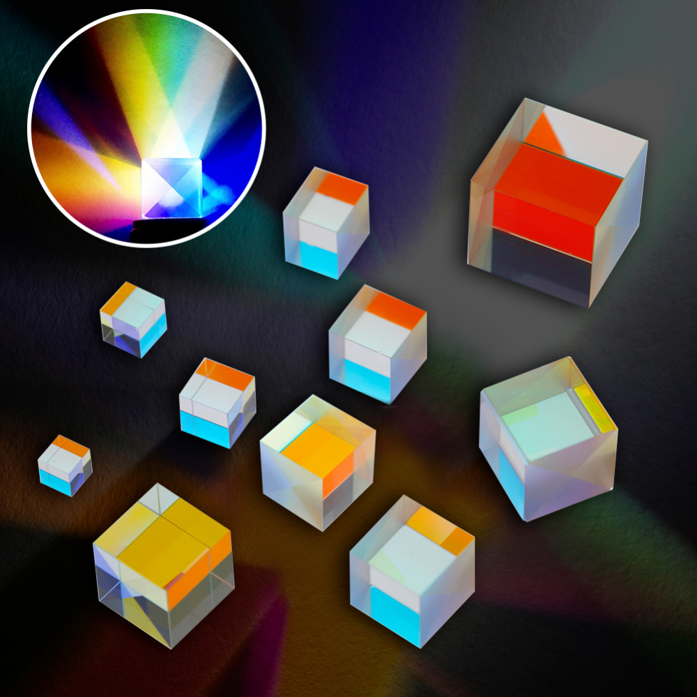 Laser Beam Combine Cube Prism Mirror toy for 405nm-450nm Blue Laser Diode Module Party DIY Decorations