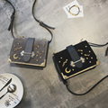 Korean fashion bag cover small rivets inserted new package bag all-match frosted autumn Shoulder Satchel