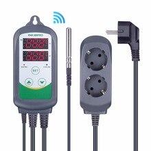 Inkbird ITC 308 controlador de temperatura Digital WIFI termostato de salida de enchufe EU US UK AU, 2 etapas, 2200W, w/Sensor para Homebrewing