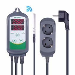 Inkbird ITC-308 WIFI Digital Temperature Controller EU US UK AU Plug Outlet Thermostat, 2-stage, 2200W, w/Sensor For Homebrewing