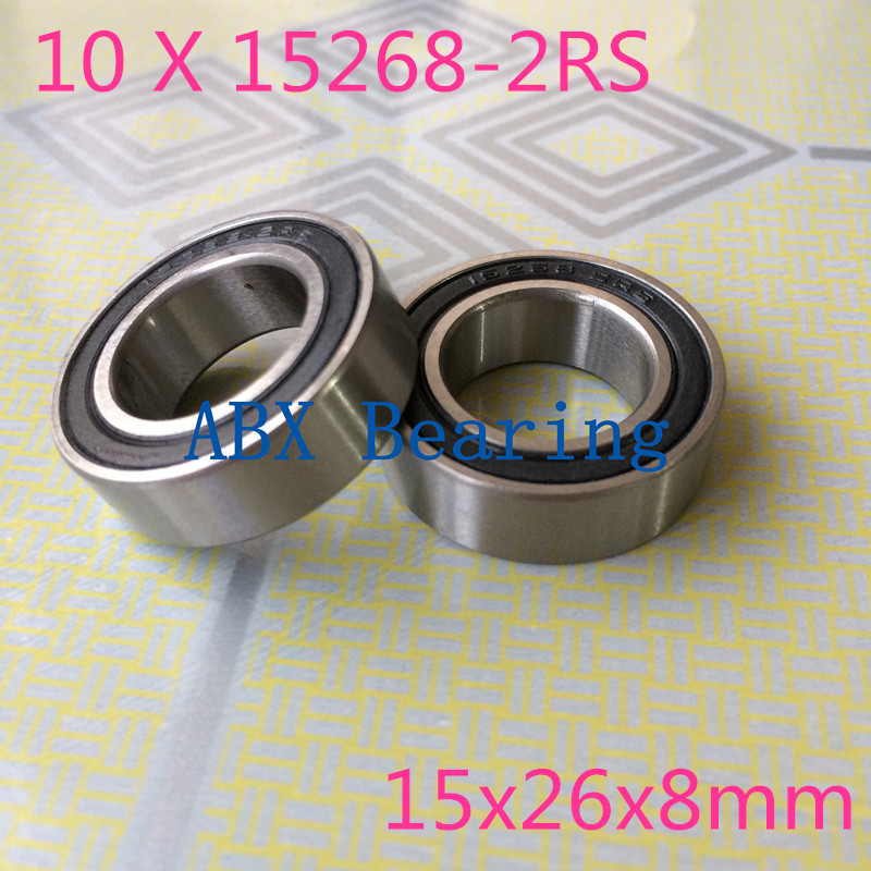 Free shipping 10pcs 15268-2RS GCR15 ball bearing 15x26x8mm 15268 RS bike wheels bottom bracket repair bearing MR15268 selenga hd930