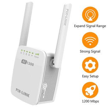 Antenna Extender Wifi | Wifi Range Extender Ripetitore Wireless Pixlink 1200Mbps Wifi Extender Internet Ripetitore Di Segnale Con Antenne Esterne Della Copertura Completa