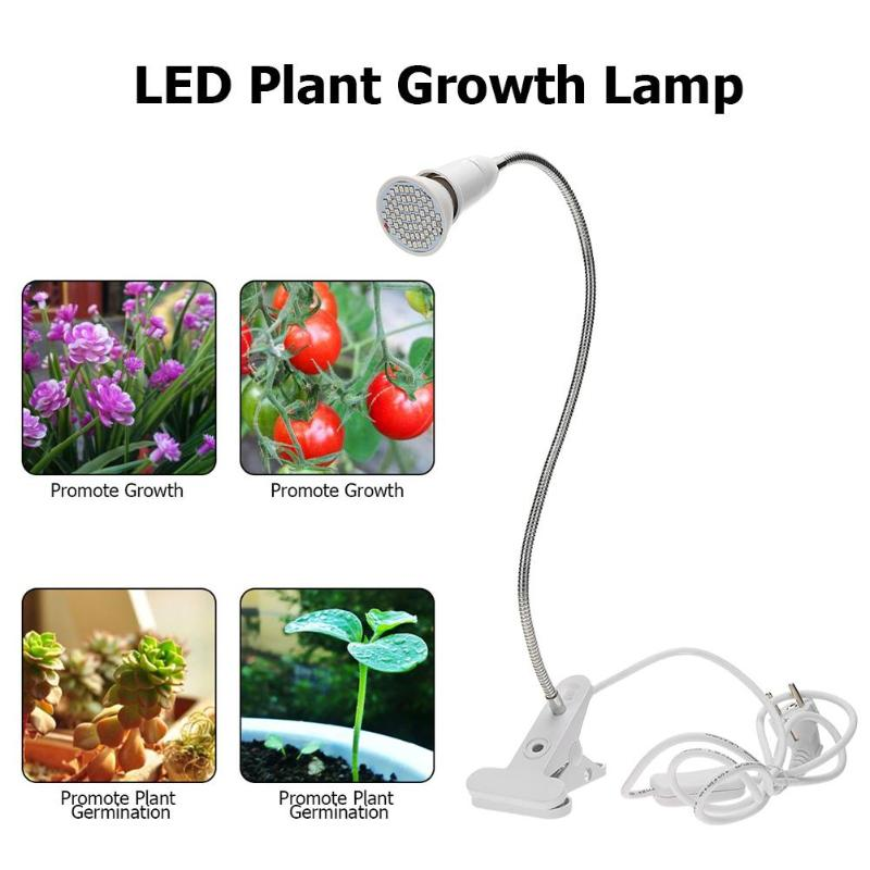 Plant Grow LED Light Clip Lamp For Greenhouse Hydroponic Seedlings Flowers