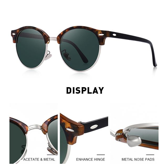 Gafas de sol polarizadas con remache Retro clásico UV400