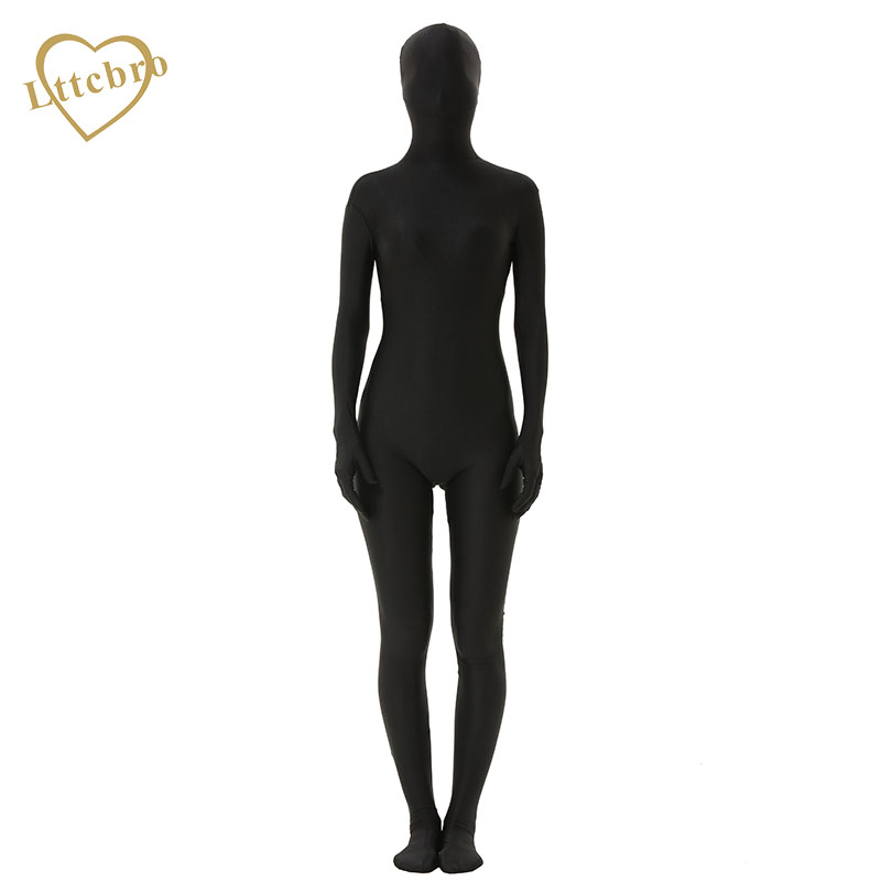 Zentai Costumes Full Body Spandex Cosplay Clothes Skin Suit Catsuit Halloween Costumes Adult Bodysuit Unisex Black Red White