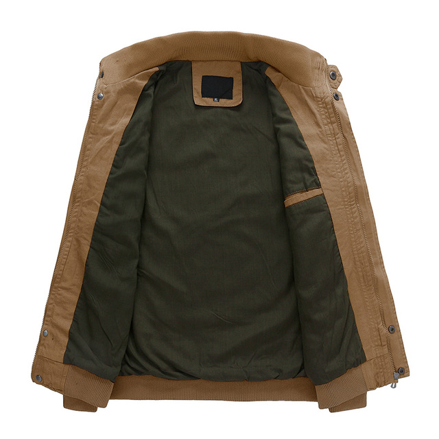 MAGCOMSEN Jacekt Men Autumn Casual Cargo Jackets Military Army Tactical Jacket for Men Casual Cotton Bomber Jacket Coat SSFC-36 5