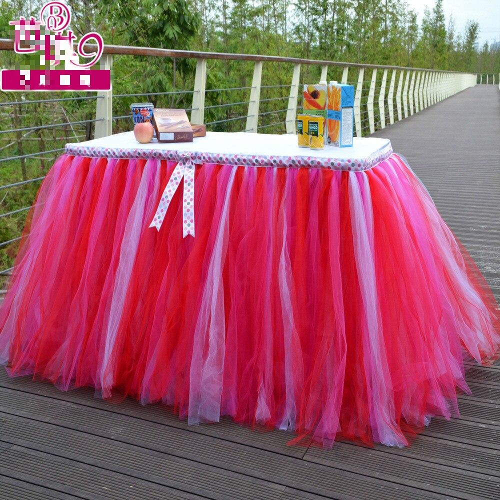 Amerika Stil Hochzeit Tisch Kleider Partei Liefert Tutu Tischdecke ...