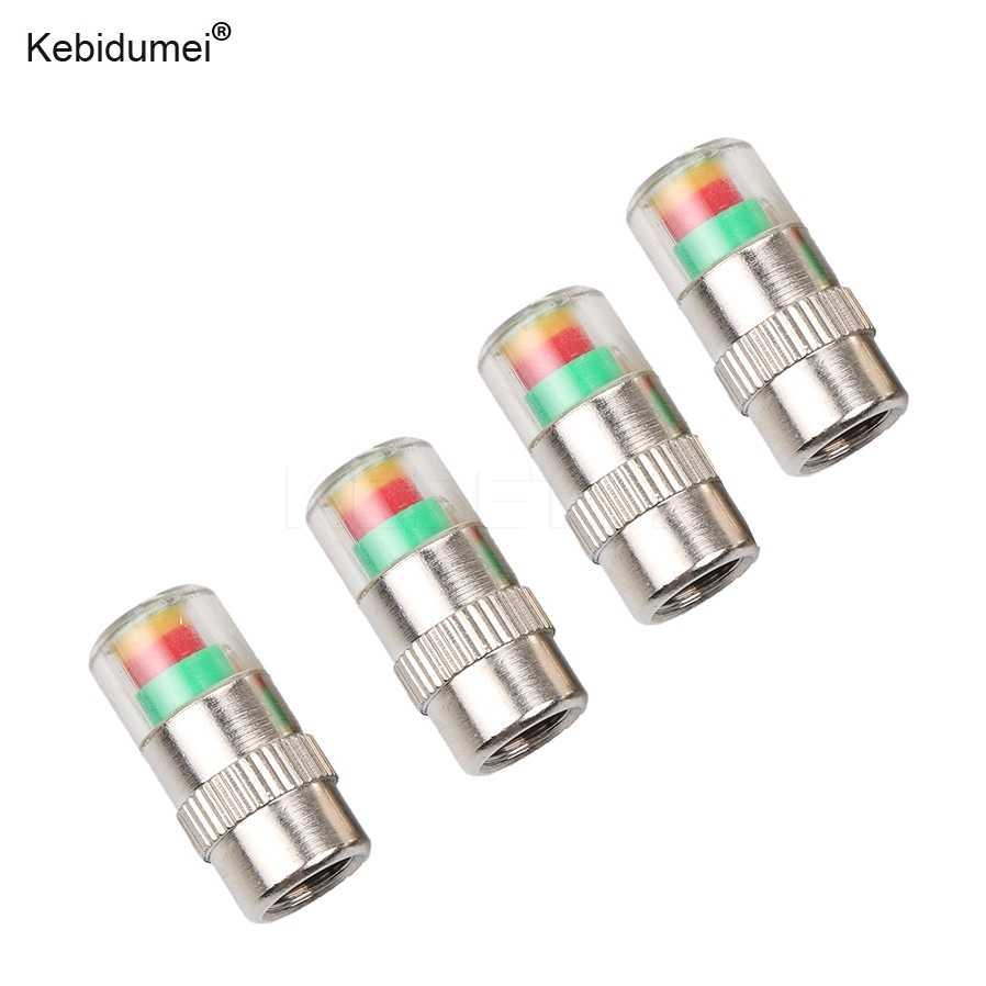 Kebidumei 4 個の高品質車のタイヤ圧力キャップ警報装置のバルブ幹モニターインジケータ警告