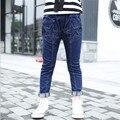 2016 Горячая осень детские джинсы девочки брюки джинсы симпатичные звезда шаблон детская одежда