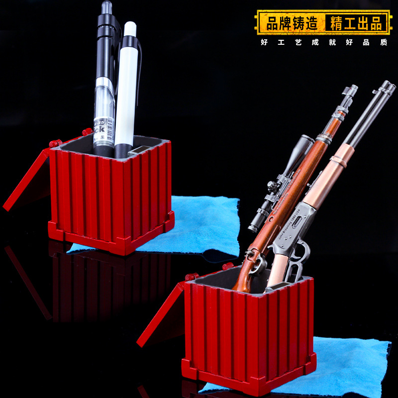 Pen container New Playerunknown's Battlegrounds Game Airdrop bag Model PUBG Logo Storage box Ashtray Cosplay accessories