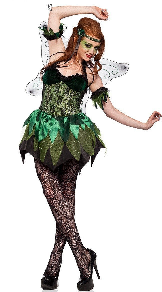 Halloween Party Costumes Flower Fairy Tinker Bell for Women Elf Tinkerbell Princess Dress Up Costume with Wing