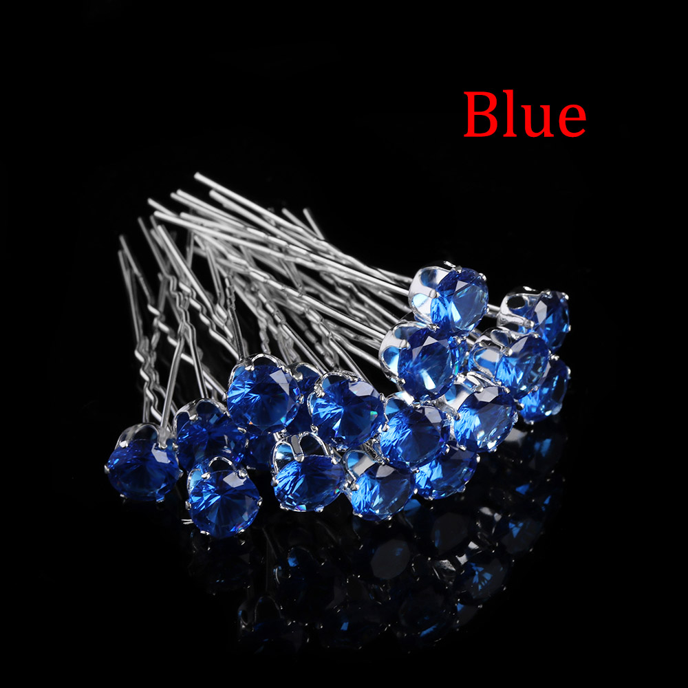20PCS/lot Fashion Women Clear Crystal Rhinestone Hairpins Women Hair Clips Wedding Bridal Hair Jewelry Accessories