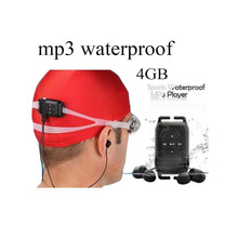 Cute mp3 IPX8 Head waterproof free music downloads mp3 player with 4GB capacity for sports running swiming For Surf Scuba Diving