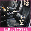 Luxury Diamond Rinestone Auto Interior Decoration Accessories Seat Cover High Quality PU Leather Car Seat Covers