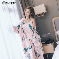 2018 Winter Robe Women Pyjamas Set Nightwear Sexy Nightgowns Sleepwear Homewear Clothes Bathrobe Femme Nightdres Chemise De Nuit