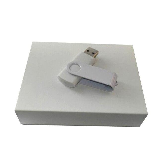 DIY ЛОГОТИП користувальницьких білий бізнес поворот usb 2.0 4 ГБ, 8 ГБ, 16 ГБ, 32 ГБ memory stick pen drive партія подарунок (30 шт. безкоштовно логотип)