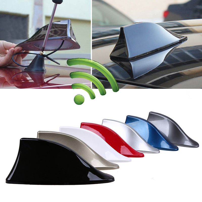 Car Antennas Shark Fin Antenna Auto Radio Signal Aerials Roof Antennas For Universal Car Model Car Styling