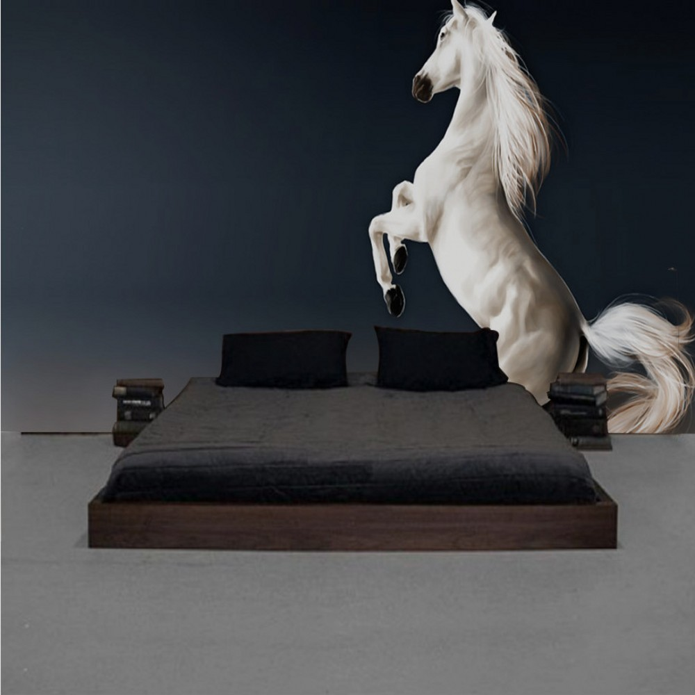 Free Shipping Custom 3d Wallpaper modern Simplicity Pentium White Horse Background Wall Painting Mural 3d Wallpaper Horses 2015 real free shipping custom large mural of european 3d stereo wood bump texture bar coffee hall leisure background wallpaper