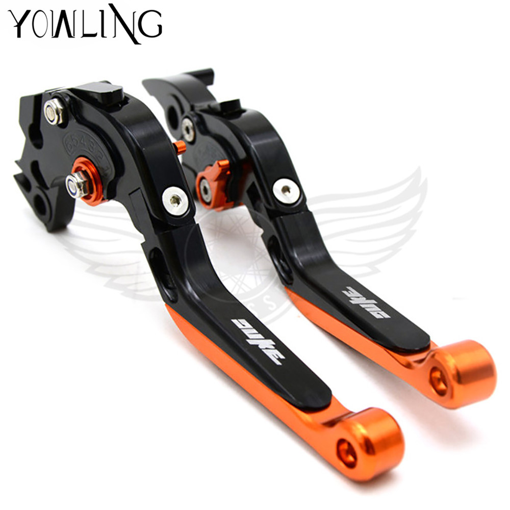 Orange & Black Motorcycle CNC Brakes Clutch Levers Fit For KTM Duke 125 200 390 DUKE RC 390 690 Duke R 2014 2015 2016 2017 motorcycle cnc balance bar for ktm 125 duke 200 duke 390 handle rebar handlebar modification parts accessories balance bar