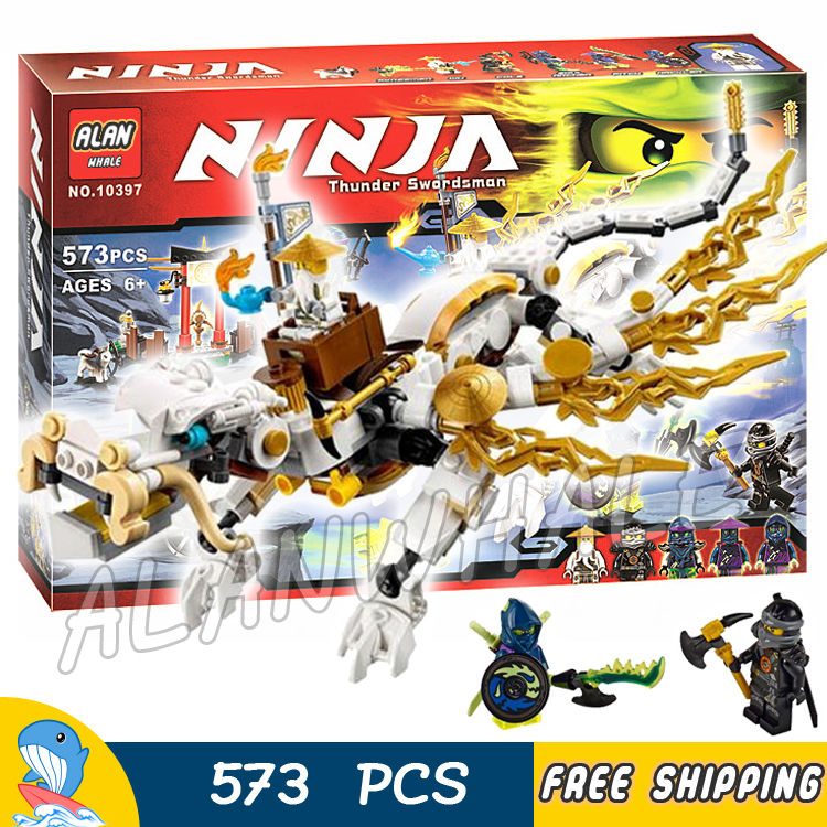 575pcs Bela 10397 Master WU Dragon Ninja Building Kit toys Blocks Bricks Figures Kids Education Compatible With lego 1351pcs bela 06039 ninja samurai x cave chaos building blocks jay lloyd toys compatible with lego