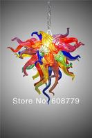 Gratis Verzending Multi Gekleurde Handgeblazen Glazen Unieke Kroonluchter