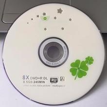 5 discs Grade A X8 8.5 GB Blank Clover Printed DVD+R DL Disc