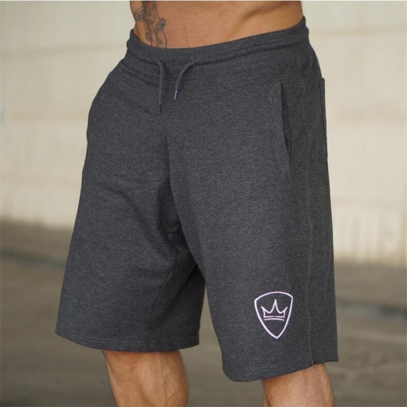 Men 2018 Summer New Loose Cotton Shorts Man Gyms Fitness Knee Length Sweatpants Male Jogger Workout  Brand Short Pants