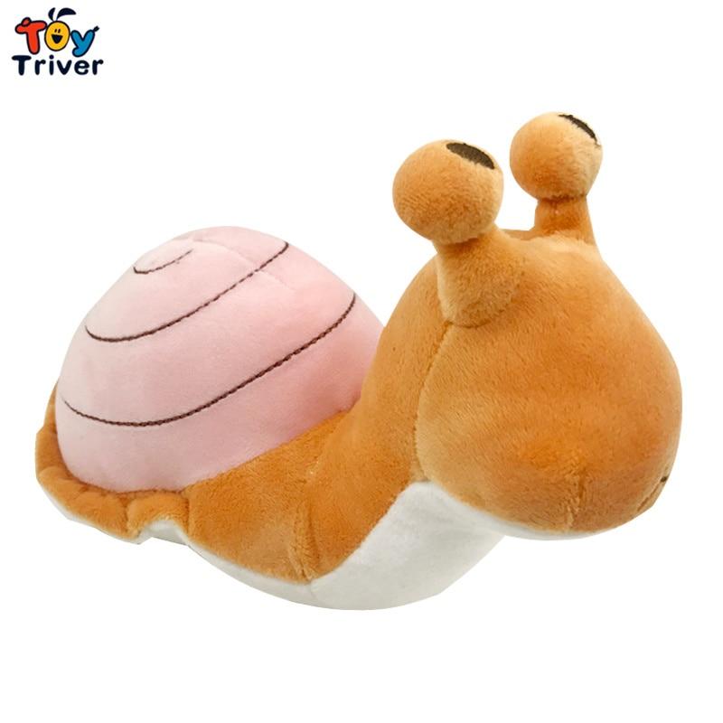 24cm Plush Simulation Snail Toy Stuffed Turbo Animal Doll Baby Kids Children Birthday Gift Home Decor Travel Frog