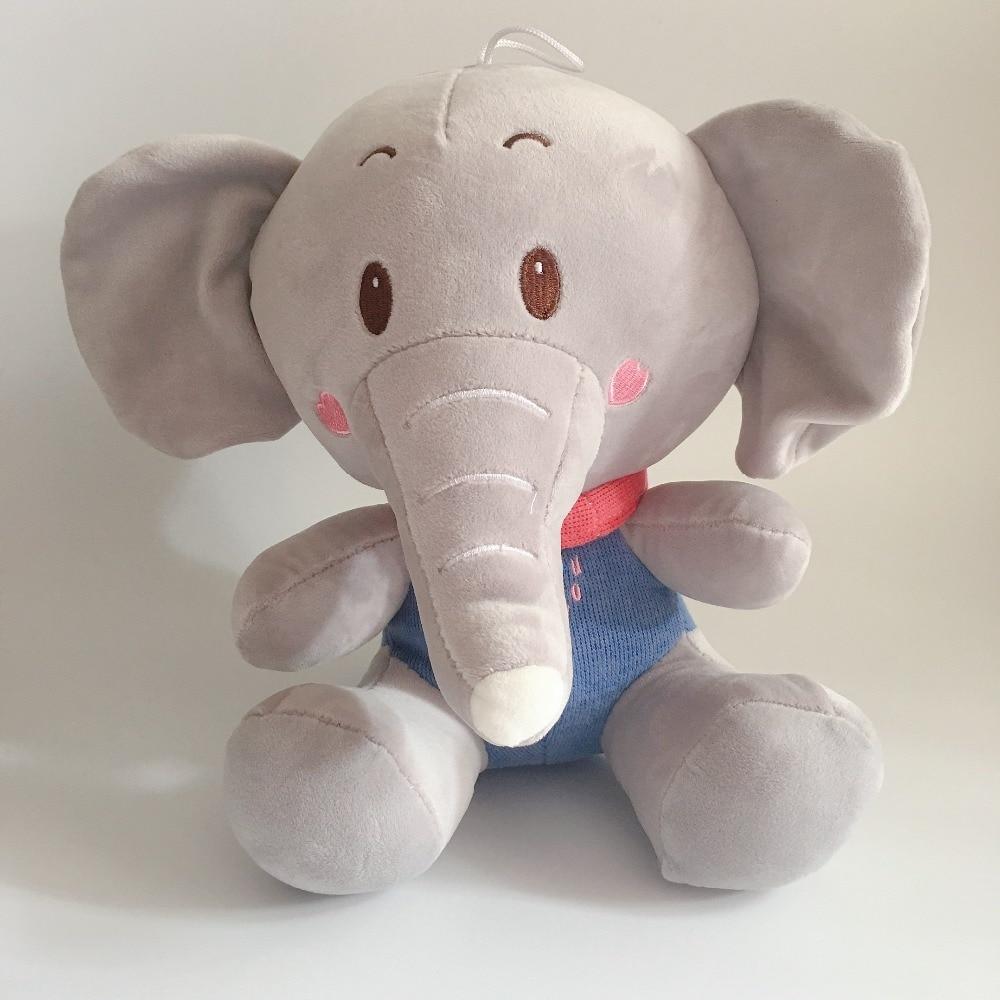 1PC 30cm Big ear grey elephant Stuffed Plush Toys Cartoon stuffed animals High quality Dolls For Girl children Birthday Gifts african elephant