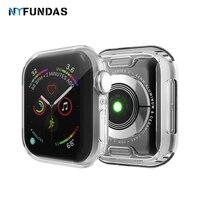 Funda para Apple Watch Series 4, 5, 40MM, 44MM, 360 grados, Protector de pantalla ultrafino, funda de Tpu para IWatch 5 4, accesorios