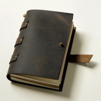 Genuine Leather Notebook Loose Fashion Diy Blank Notebook