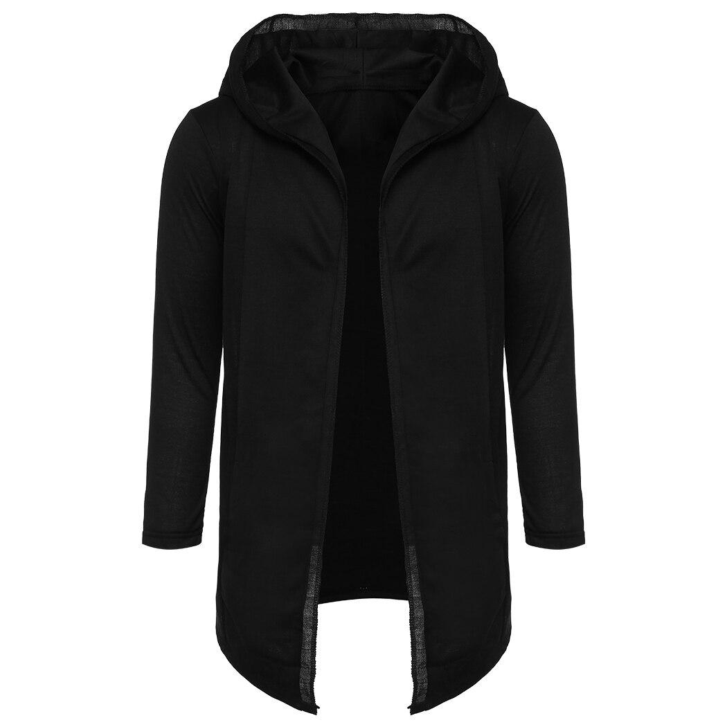 Для мужчин Для женщин толстовка с капюшоном модные черные платье с длинным рукавом Свободные куртки Повседневное Прохладный хип-хоп Толсто...