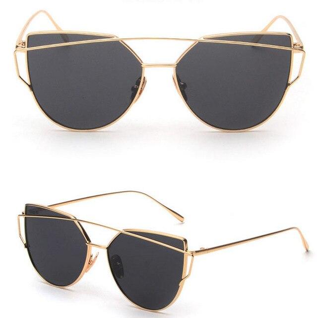 dea296201 [LvDing] Retro Women's Gold Cat Eye Sunglasses Classic Designer Vintage  Sunglasses