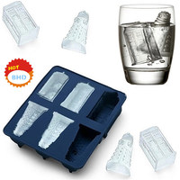 3D Grenade Silicone Ice Cream Cube Mold Soft Ice Cream Molds Trays Machine Whiskey Ice Maker